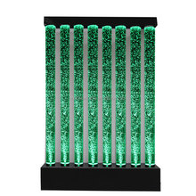 Floor standing acrylic water bubble wall with changeable LED light for indoor or outdoor decoration