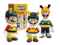 Wholesale Anime Classic Games toy Super Mario Bros Gifts Figure Bee Mario & Luigi Figure set of 2