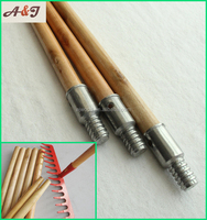 Lacquering wooden handle with metal thread for rakes or other gardening tools