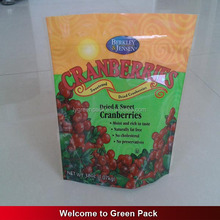 printing plastic food dry fruit fraise packing bag with zip lock