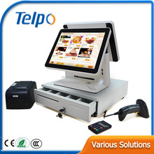 "Telepower TPS515 POS all in one touch electronic cash register machine with 15"" touch screen for supermarket"