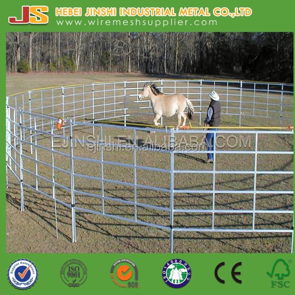 5ft*12ft cattle fencing panels metal fence 6 Bars Heavy Duty Corral Cattle Panel galvanized corral panels