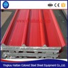 Customized length EPS sandwich panel, used PPGI Steel sandwich panel material