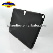 For Samsung Galaxy Note 10.1 N8000 X LINE SHAPE TPU SKIN CASE GEL RUBBER BACK COVER