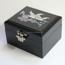 High end mother of pearl inlay large jewelry boxes