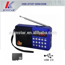 KD-104U USB SD lettore mp3 con radio fm, mini radio fm lettore mp3