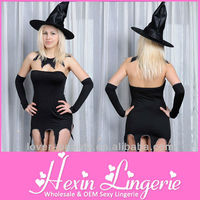 Wholesale 3PC Black Plus Size Halloween Costumes Europe