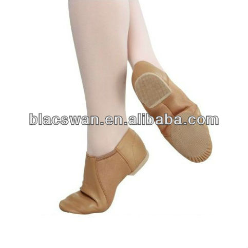 JS22 jazz dance shoes tan color split sole jazz shoe