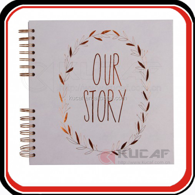 Custom our story begins notebooks guest book wedding