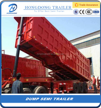 Hot sale 3 Axles 12 Wheel Dump Semi Trailer 40 ton Tipping Semi Trailer Truck for sale