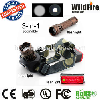 multi-function flashlight CREE Q5 250Lm Rechargable Zoomable zoom focus LED Flashlight torch HT-Q5-C45