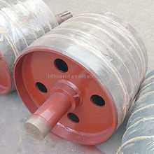 500mm diameter flat conveyor belt idler pulley for material handling