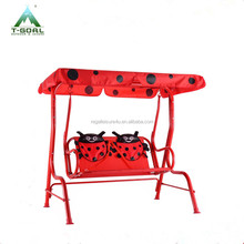 Kids Patio Swing Bench Children Porch Swing Chair 2 Seater with Canopy kids swing chair