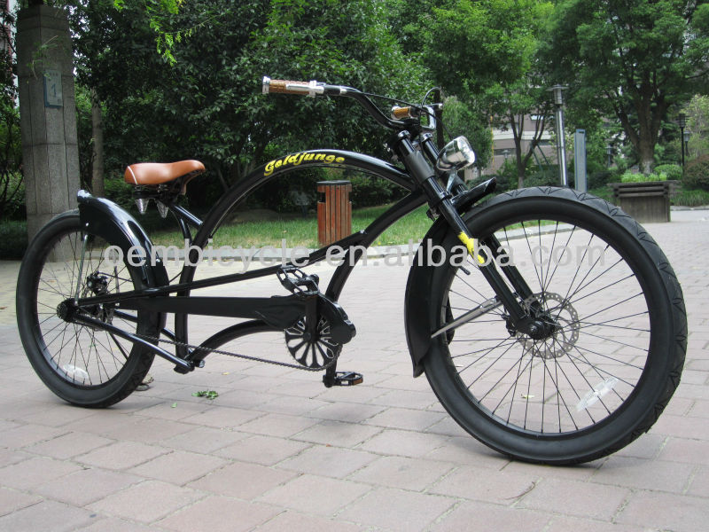24inch professional black adult black cheap chopper pedal bikes