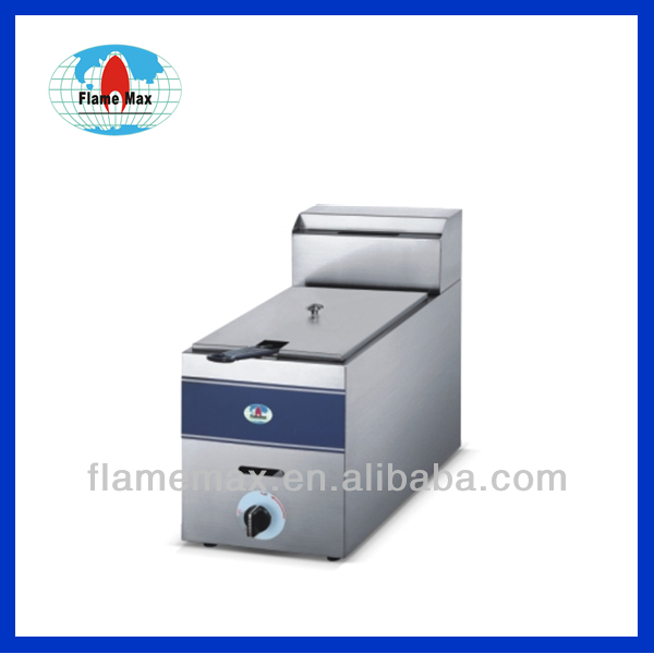 Industrial Stainless Steel Single Tank Gas Fryer HGF-71