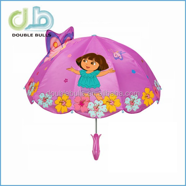 2015 promotional custom animal kids umbrella cartoon ears umbrella