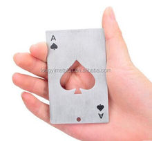 Factory custom stainless steel poker spades Bottle opener