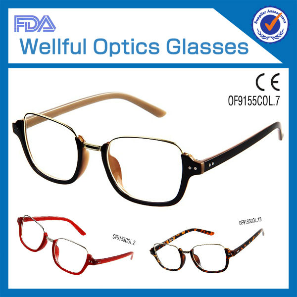 2014 hot sell fashion good TR90 materail wholesale new trend ladies spectacles frame