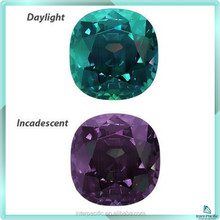 Hot sale Fashion Cut synthetic alexandrite stone