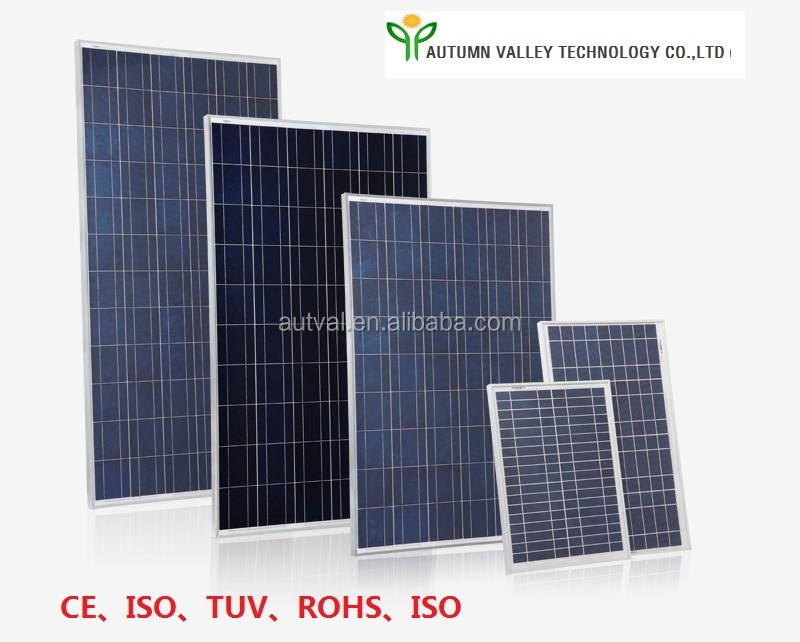 Small Poly Crystalline Silicon Solar Panels 25W with CE