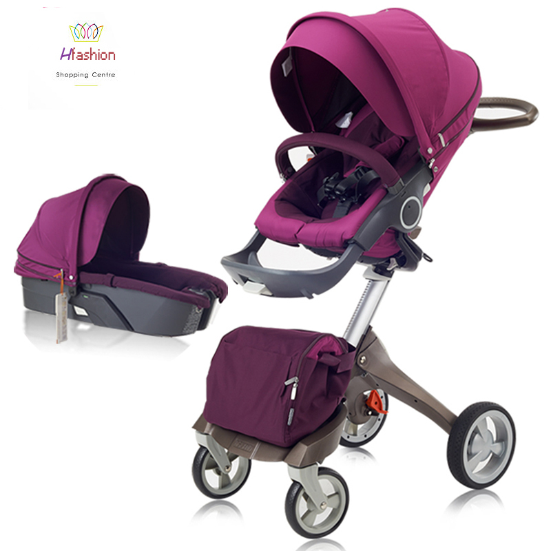 summer luxury baby stroller car seat bassinet carrycot folding travel system infant prams 3 in 1