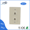 rj45 rj11 faceplate with socket 6p6c telephone faceplate