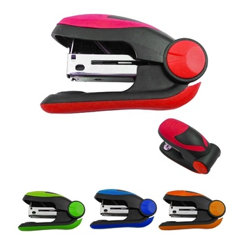 Good selling wholesale customized portable colorful eco-friendly plastic mini innovate cute stapler for students