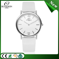 European classic vogue fashion leather brands quartz stainless steel watch