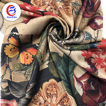 Designer Floral printed satin fabric for Wedding dress Party Dress