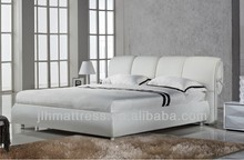 Cheap white leather bed for sale