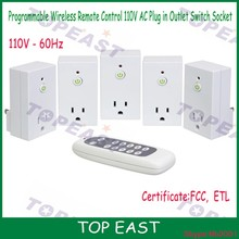 110v US socket Wireless Remote Control Electrical Outlet Switch for Household Appliances