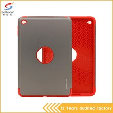 Manufacturer wholesale pc tpu armor gray and red color tablet case for ipad pro 9.7