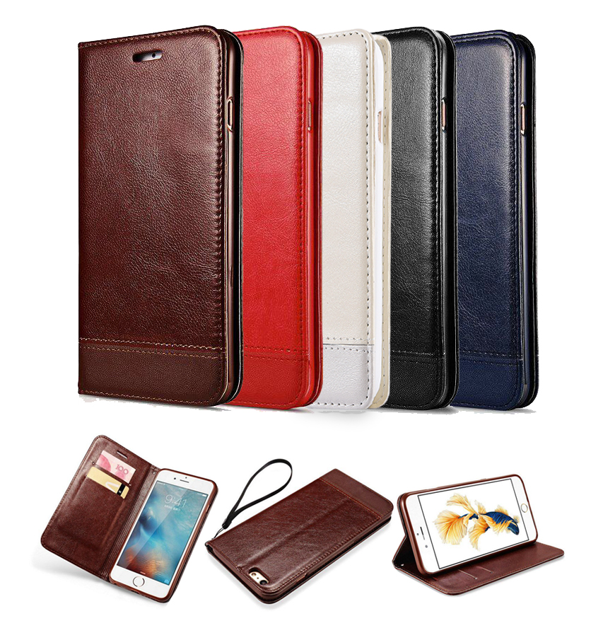 Wallet Leather Cover Case for iPhone 5 5s SE Hybird TPU+Leather Case with Card Slot Holder and Strap Cover Case for iPhone 6 6s