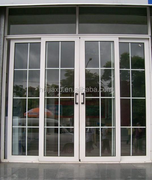 Французские двери алюминиевые балконные раздвижные двери-две.