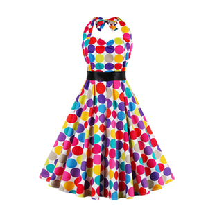 women new look polka dot dress,print party cocktail skirt dress with strapless