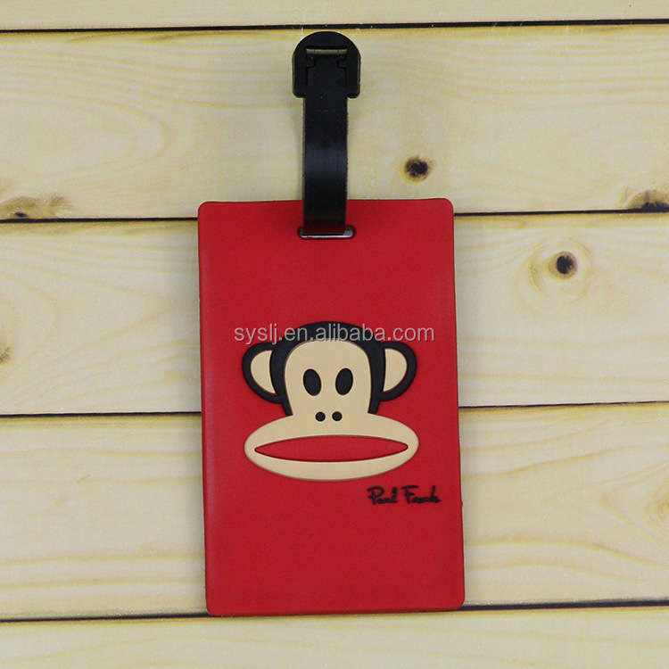 promo vinyl luggage tag with header card