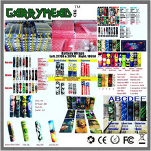 NBA Vape Wraps/Battery Sticker/Battery label colorful pvc heat shrink battery tube battery wrap 18650 custom Battery skin