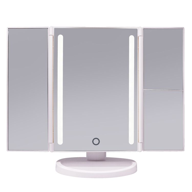 Amazon Top Seller 2018 Desktop Foldable Mirror Portable Lighted Travel Makeup Vanity Mirror With 22 Led