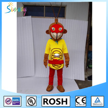 2016 High quality Monkey mascot costume halloween/Monkey mascot costume halloween/Monkey mascot costume for paly
