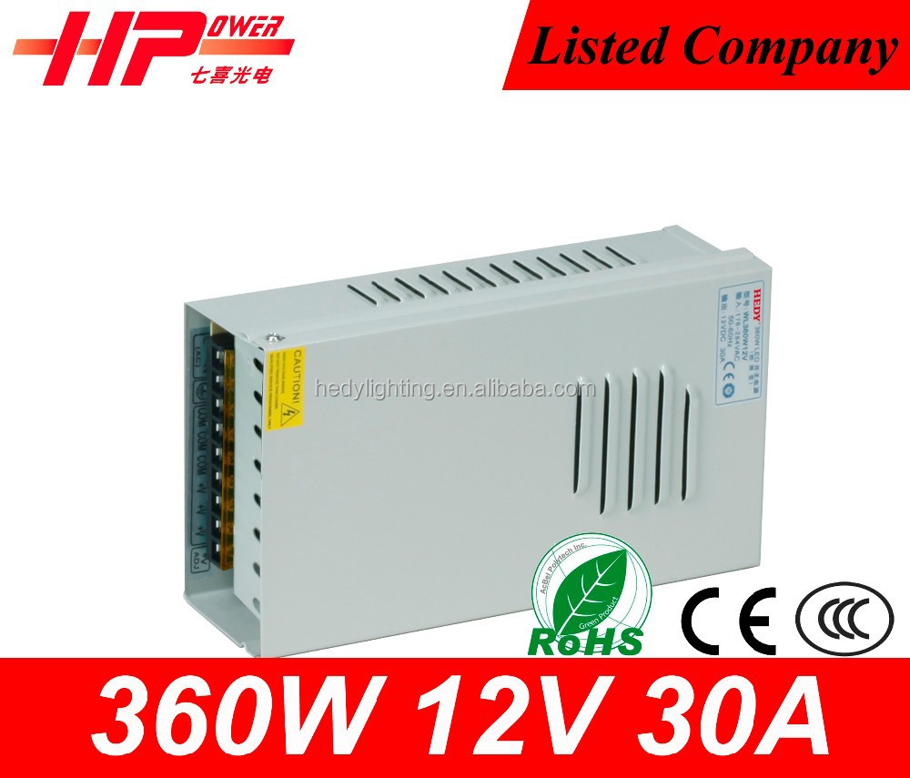 Guangzhou factory rainproof led switching power supply cctv camera Single Output Constant Voltage 360w 12v power supply monitor