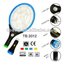 TB 2012 NEW rechargeable electric flyswatter with flashlight