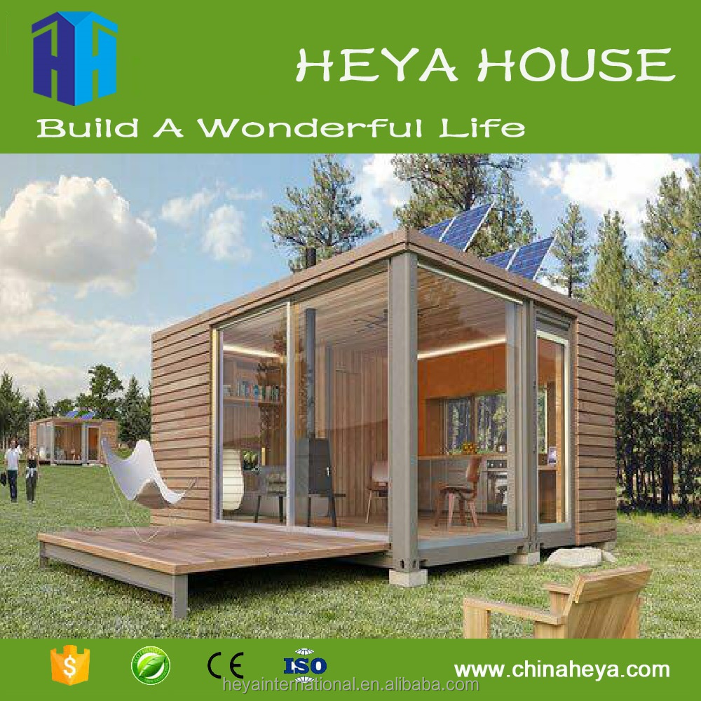 Ecological new design solar prefab house/solar power container home for sale