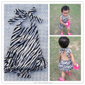 Wholesale fashion sunsuit bubble cotton zebra baby rompers