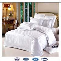 Luxury 400 Thread Count 100% Cotton 3CM Satin 60S Four Seasons Hotel Stripe Bedding Sets