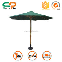 3M Outdoor cheap Essential Wooden Garden Umbrella with Central Pole 48mm