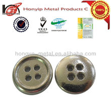 fashion 15 mm alloy four or two hole sewing shirt buttons for garments
