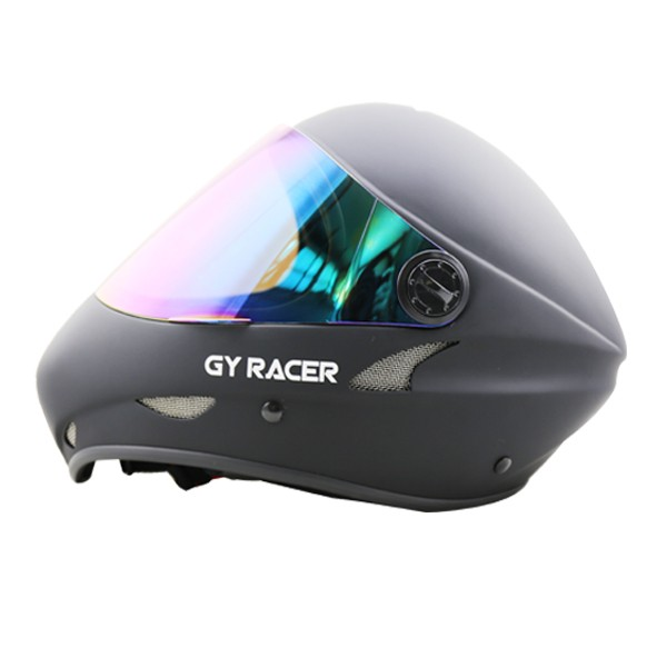 GY SPORTS New Developed Full Face Fiberglass Shell Downhill Longboard Helmet