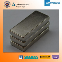 Customized Block shaped N35 n45 neodymium magnet with RoHS Certification