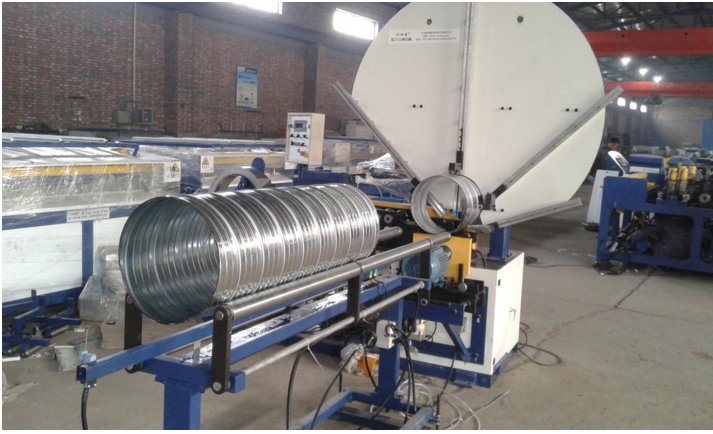 Aluminum spiral duct and making machine,steel pipe manufacturing machine