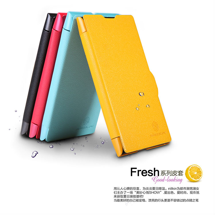 For Nokia Lumia 1020 Fresh Series Leather Case